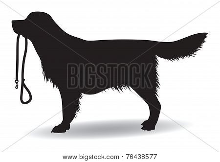 a dog silhouette