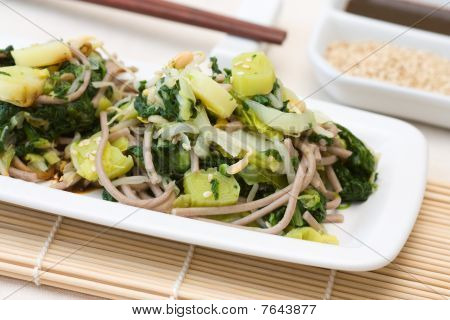 Japanese Spinach Leek Salad