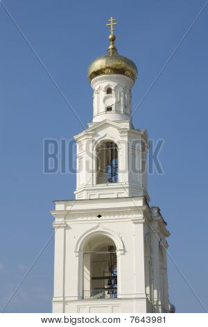 Bell tower of Russian Orthodox Church