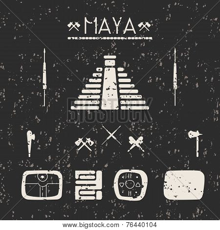 Design Elements Mystical Signs And Symbols Of The Maya.