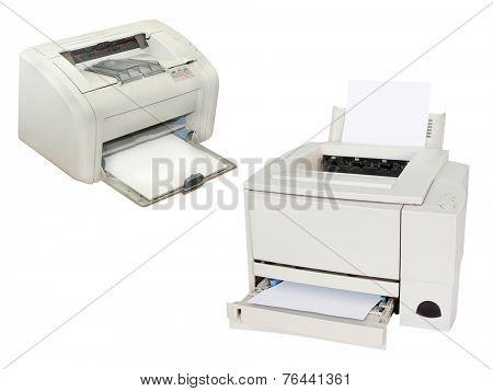 Printing machine isolated under the white background