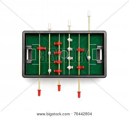 Table Football On A White Background