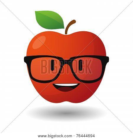 Apple Avatar Wearing Glasses