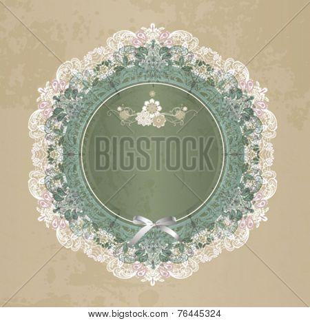 Elegant lace gentle background. Scrapbook element.
