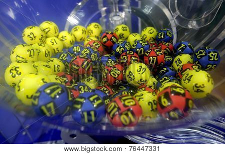 Lottery Balls In A Sphere