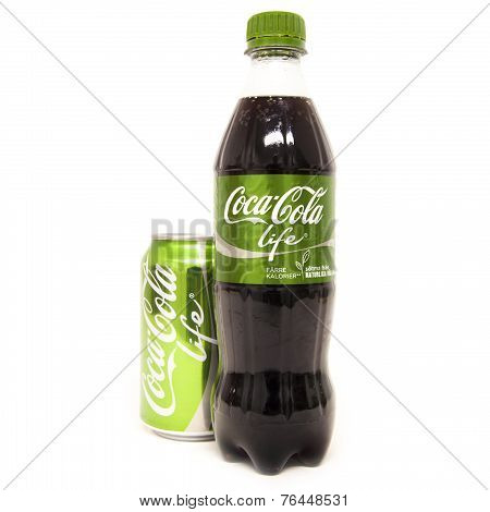 Coca Cola Life Bottle And Can