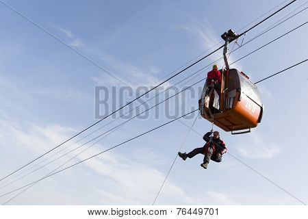 Cabin Ski Lift Rescue Training