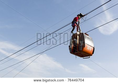 Cabin Ski Lift Rescue Training