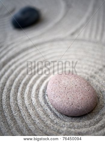 Zen-table-stones