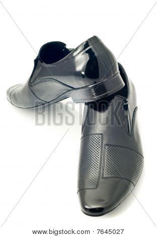 Black Men's Patent-leather Shoes