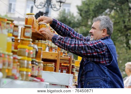 Honey With Nuts And Fruits