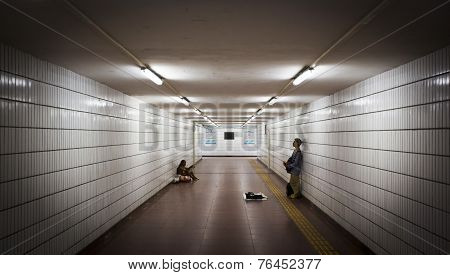 Man Singing In An Underpass