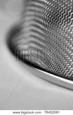 Kitchen sieve macro Close-up