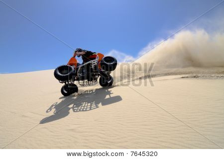Tipping ATV in Sand Dunes