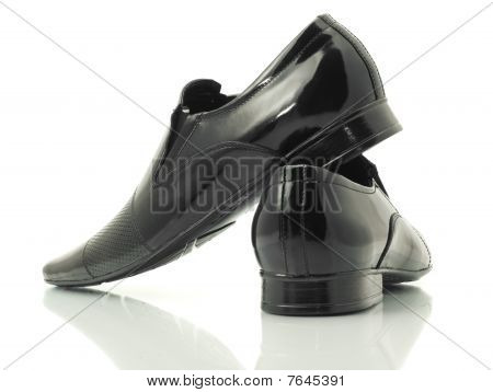 Side And Back View Of Patent-leather Shoes