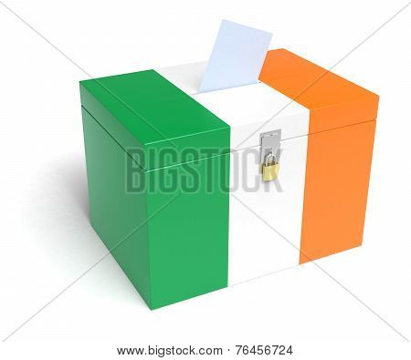 Irish Flag Ballot Box