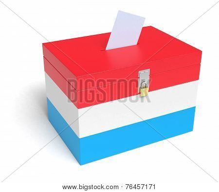 Luxembourg Flag Ballot Box