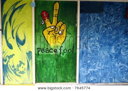 Graffiti of peace fool