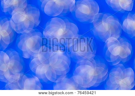 Abstractl  Blurred Circles On Blue Background.