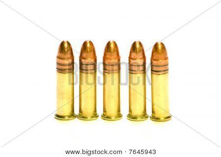 Shiny row of bullets