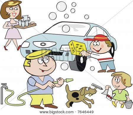 Vectores y fotos en stock de Dibujos animados de lavado de autos ...
