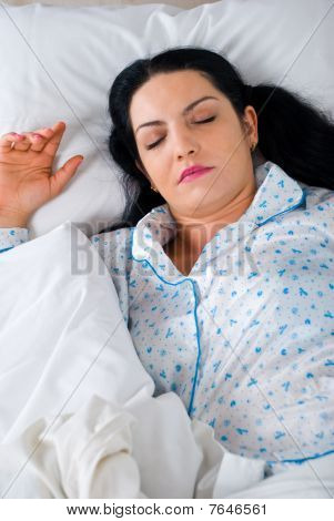 Beautiful Woman Sleep