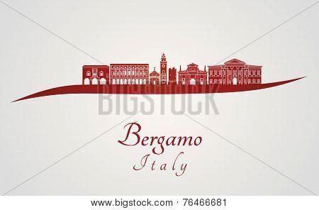 Bergamo Skyline In Red