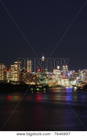Sydney City Lights At Night