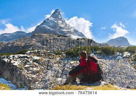 Sport  Woman In Mountains
