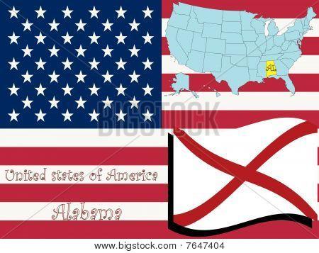 Ilustración del estado de Alabama