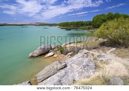 Alcaniz Lake in Teruel, Aragon, Spain.