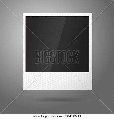 Blank vector instant photo frame in the air. Template for your photos, design etc.