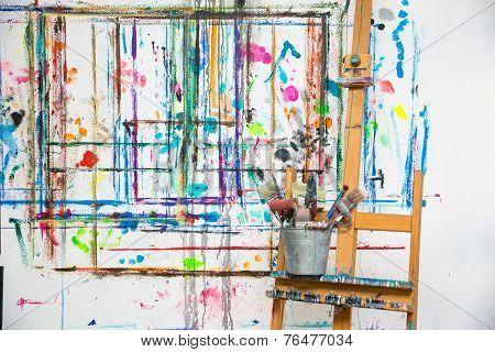 Painter's atelier