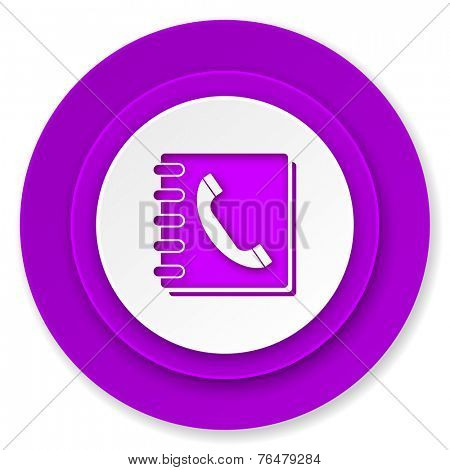 phonebook icon, violet button