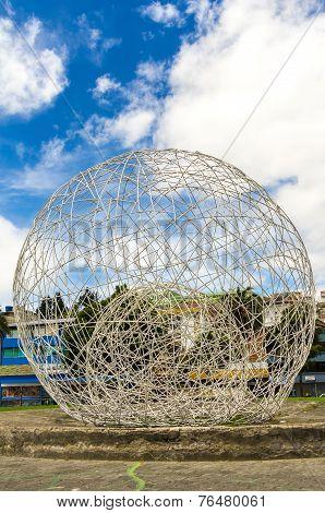 metal sphere sculpture park in Quito Ecuador South America