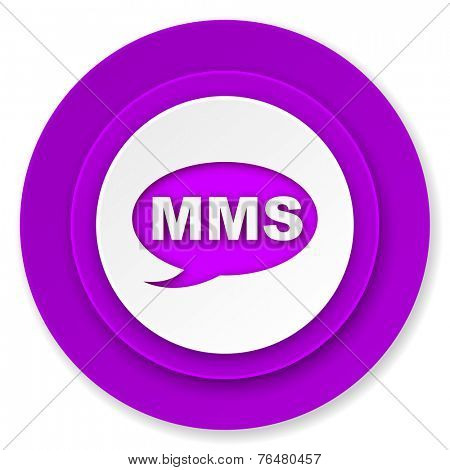mms icon, violet button, message sign