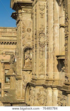 La Compania church facade Quito Ecuador South America