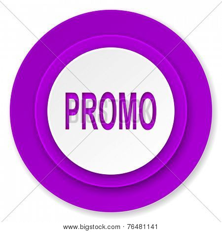 promo icon, violet button