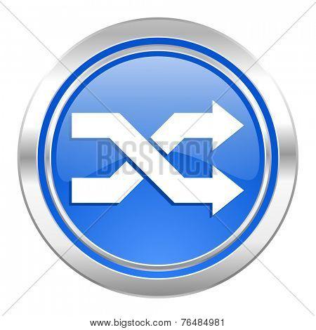 aleatory icon, blue button