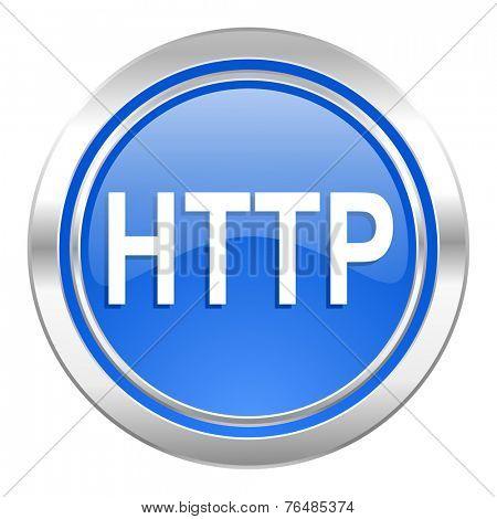 http icon, blue button