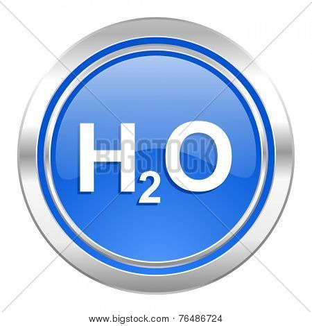 water icon, blue button, h2o sign