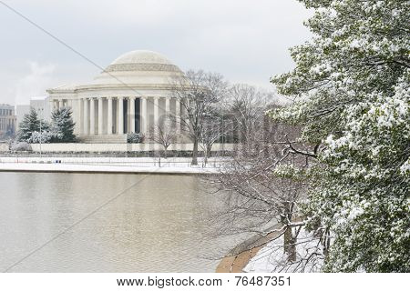 Washington DC - Thomas Jefferson Memorial in Winter
