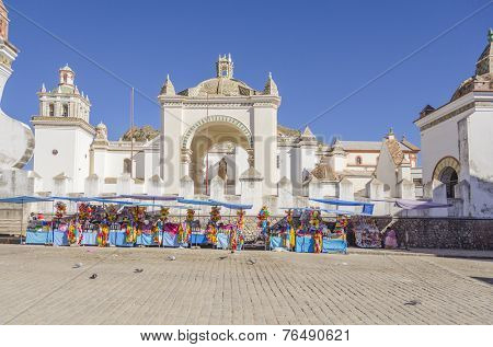 Basilica of Our Lady of Copacabana in Copacabana, Bolivia