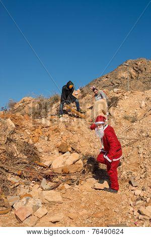 Santa In Trouble