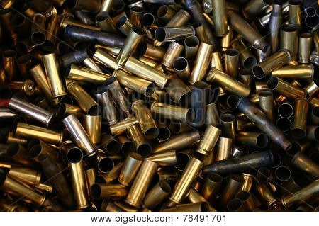 pile of bullet shells