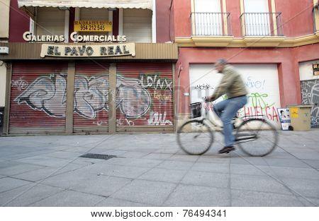 Street Scene in Seville, Spain