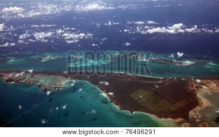 Caribbean Sea from above