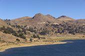 Постер, плакат: Shoreline of Lake Titicaca in Bolivia