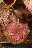 picture of ribs  - Homemade Grass Fed Prime Rib Roast with Herbs and Spices - JPG