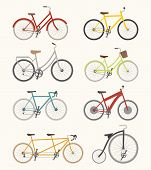 stock photo of recreational vehicles  - Set of retro bicycle eps10 vector format - JPG
